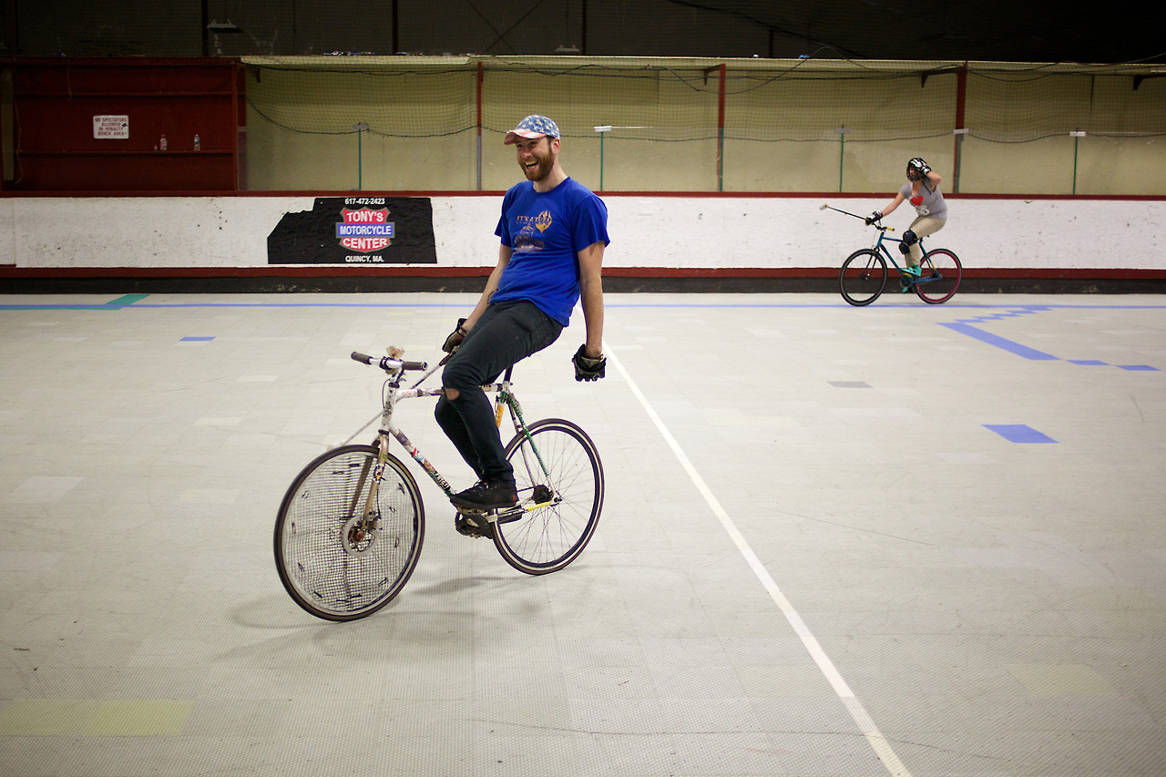 February 22, 2014. Bikepolo players in Boston.