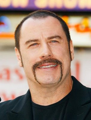 john travolta handlebar mustache