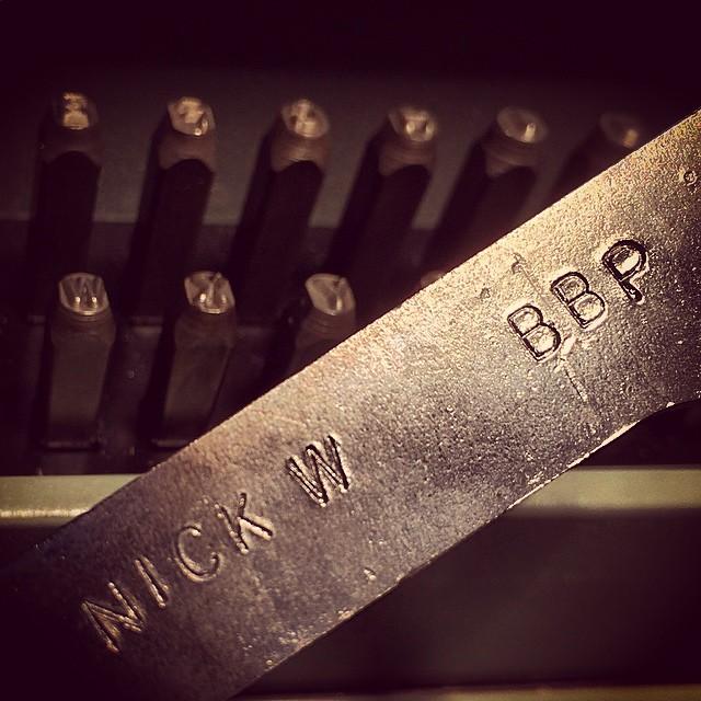 Hammer, typos, anvil... Last details. #rotorguard #bostonbikepolo #bikepolo @nickgermanywald