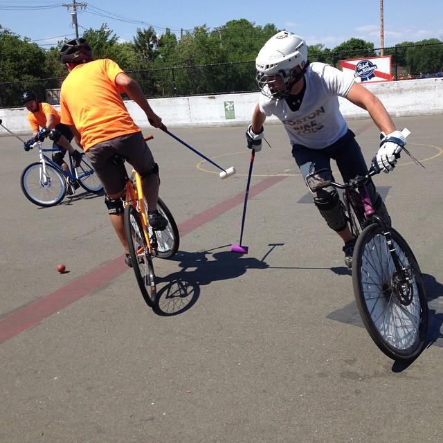 U.S. Open Bike Polo Tournament. Thanks for the pic @sujatamu. #tazaboys #bostonbikepolo #usop