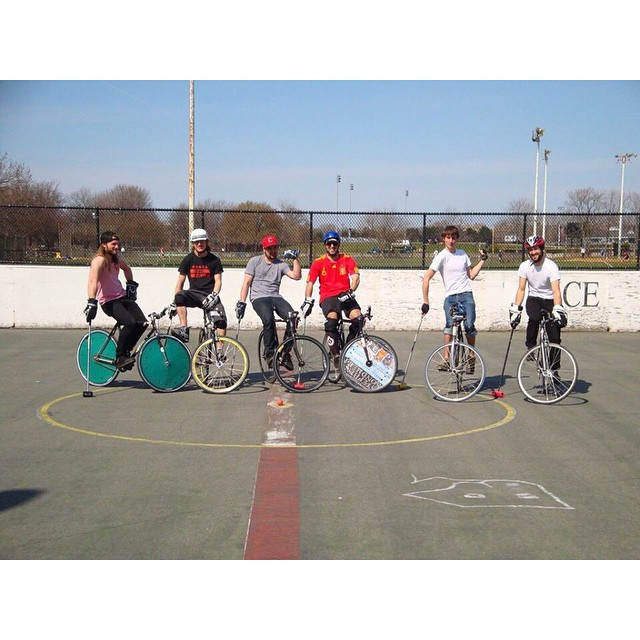 #tbt circa 2010ish? #bikepolo #bostonbikepolo #slaughterhousepolo #legitbikepolo