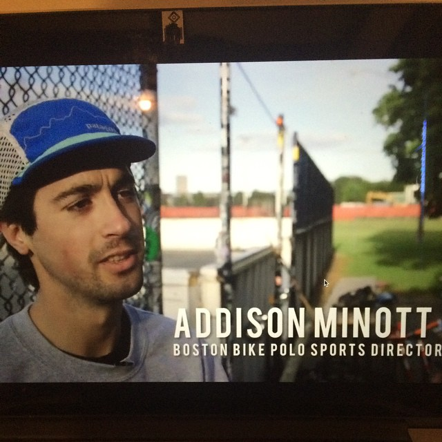 a cool cat giving a cool overview of #BostonBikePolo to boston.com #RadCaps #BikePolo