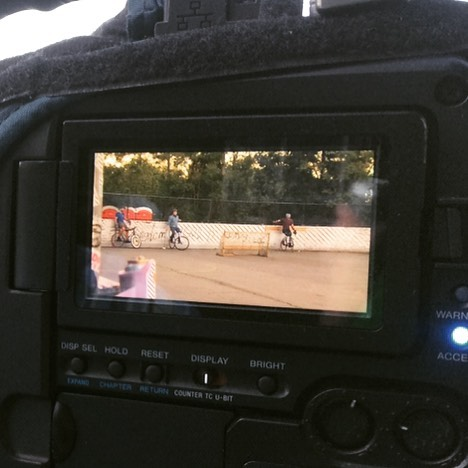 Cameras on cameras on goals #bostonbikepolo #bikepolo