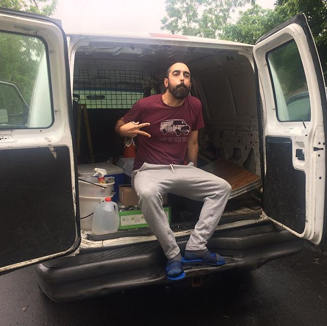 Have you gotten in the van? #dadfashion #dutchreach #getinthevan