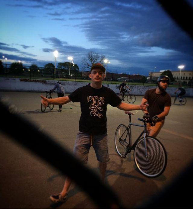 Numero Uno Dabber #thebaker #bicipolo #fridaynightlights #bikepolo #bostonbikepolo