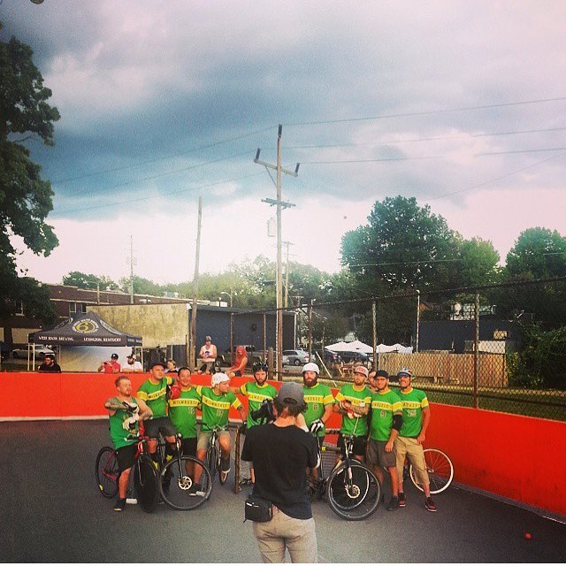 Throwback to just about 4 years ago when Milwaukee knocked #bostonbikepolo out in the semifinals of #nahbench. Hopefully tonight Boston will knock MKE out the #nbaplayoffs. Also bring back this tourney. P.s. it was our only loss that weekend. #goceltics #getinthevan #nahbikepolo